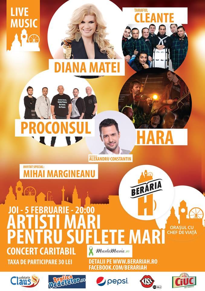 Concert Caritabil Diana Matei si Taraful Cleante, Proconsul, Hara si Mihai Margineanu