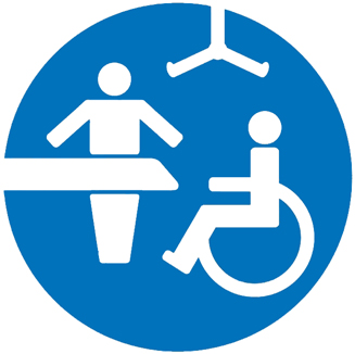 Simbol Toaleta cu pat de schimbat